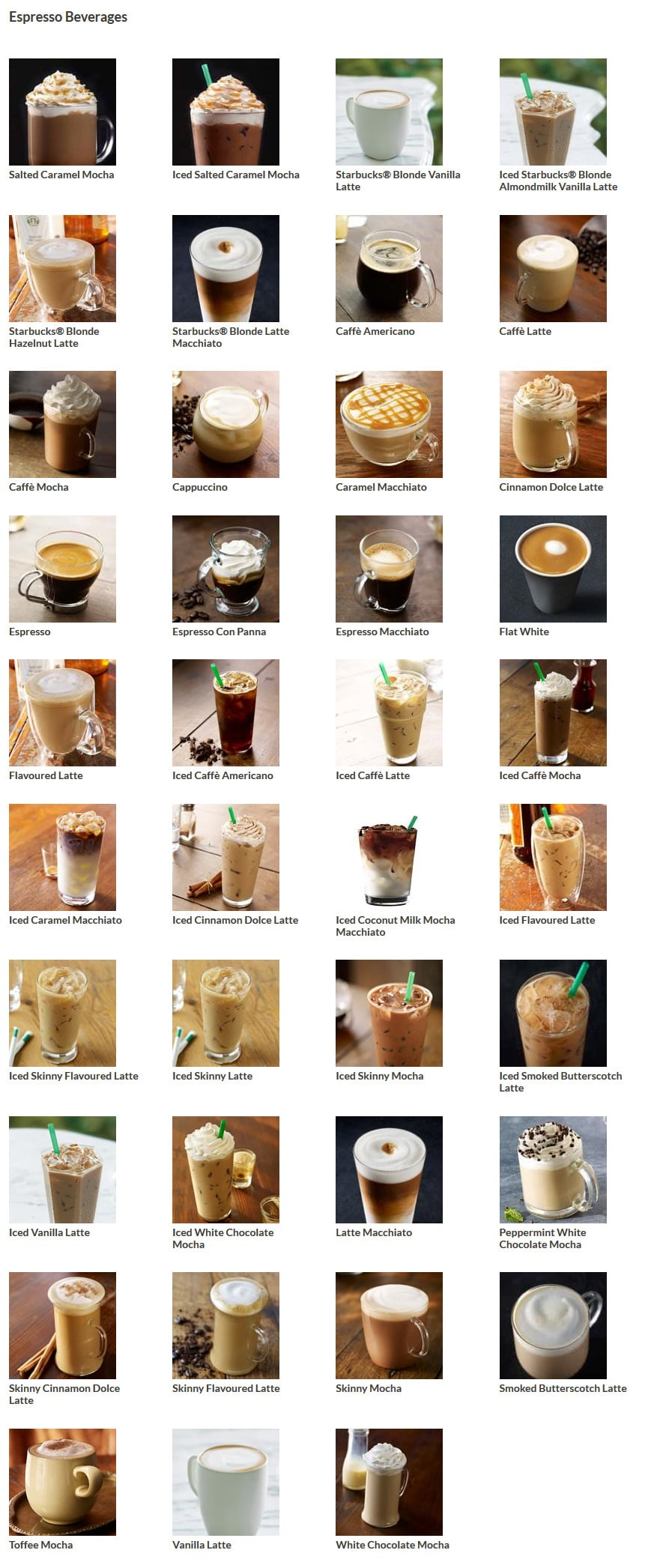 Starbucks Menu And Breakfast Offers