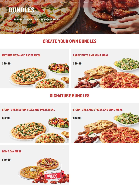 Boston Pizza Menu Prices