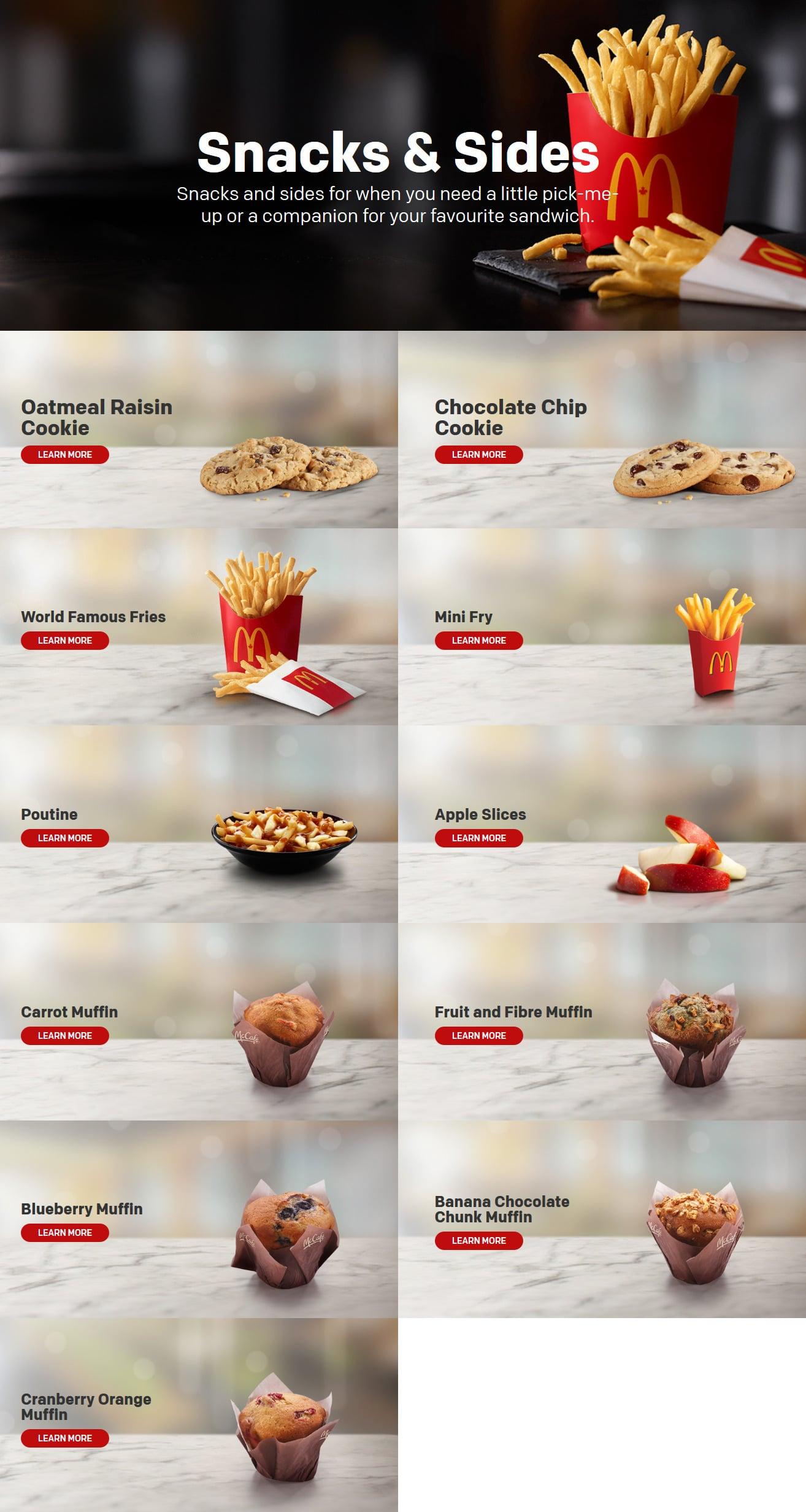 mcdonald's canada menu flyer and coupons