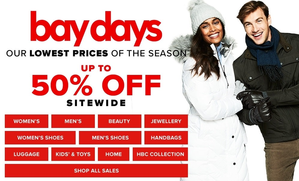 Hudson S Bay Sales Extra 20 Off Promo Code And 50 Off Bay Days Sale