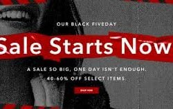 Aritzia Black Friday Deals 2018