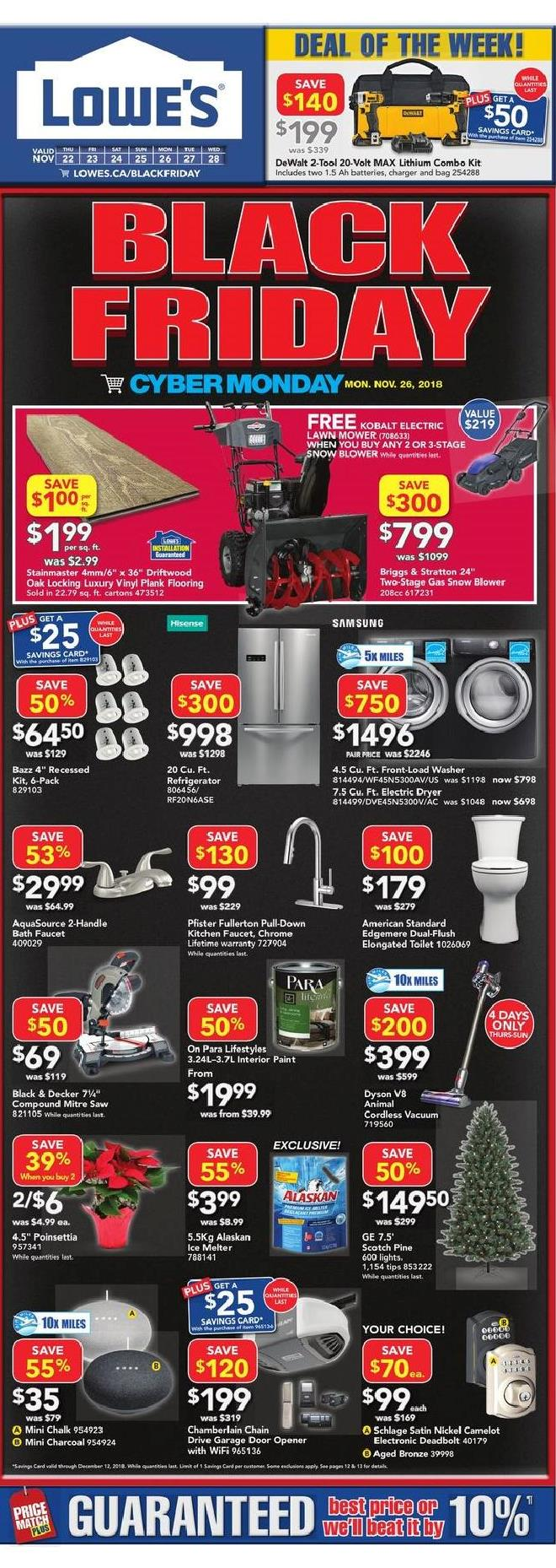 Lowe S Black Friday Canada 2018 Sale Flyer