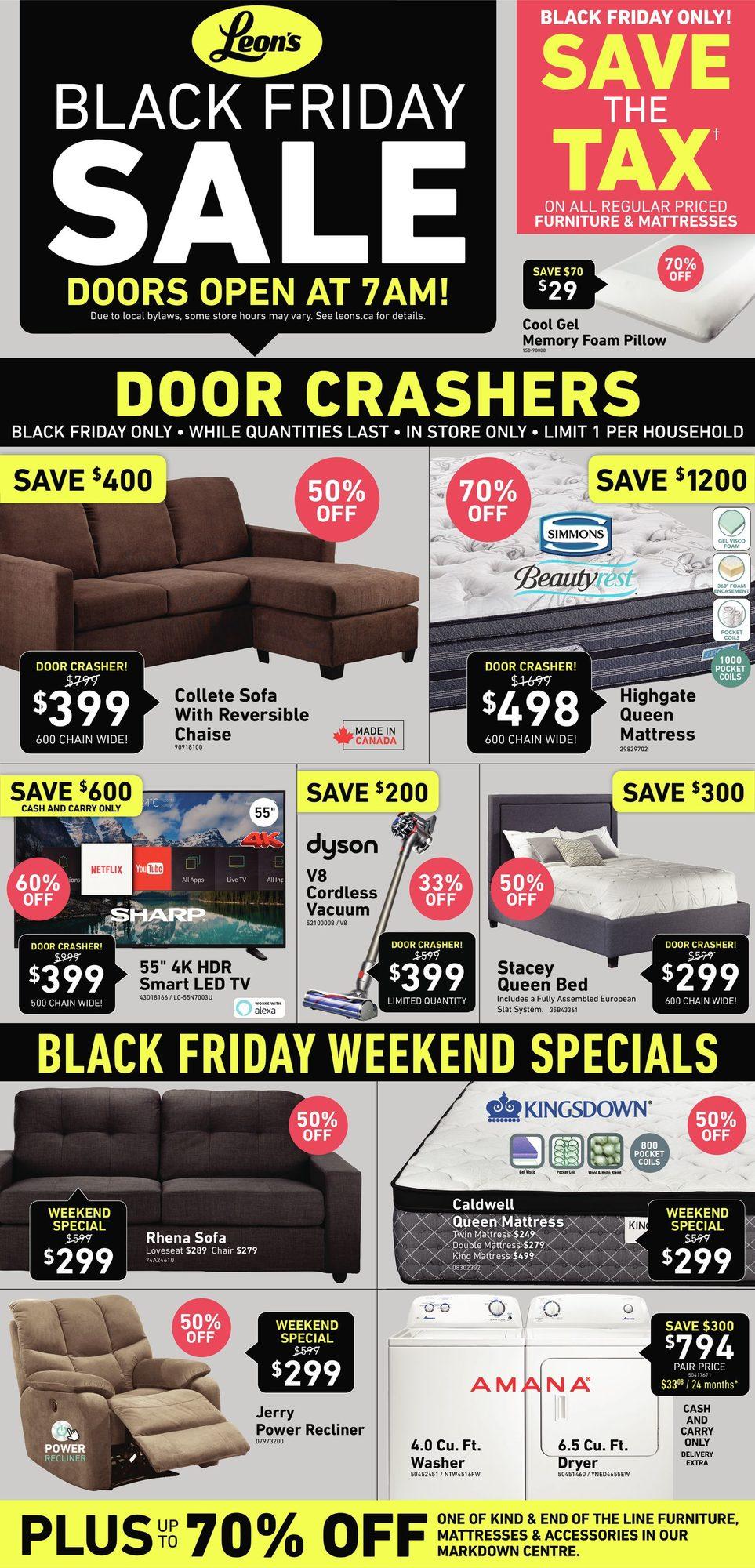 Leon S Black Friday 2018 Sale Flyer
