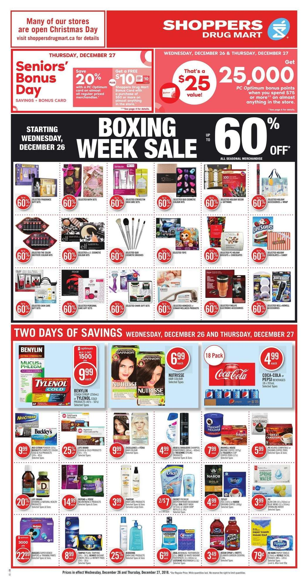 Shoppers Drug Mart Boxing Day 2018 Sale Flyer