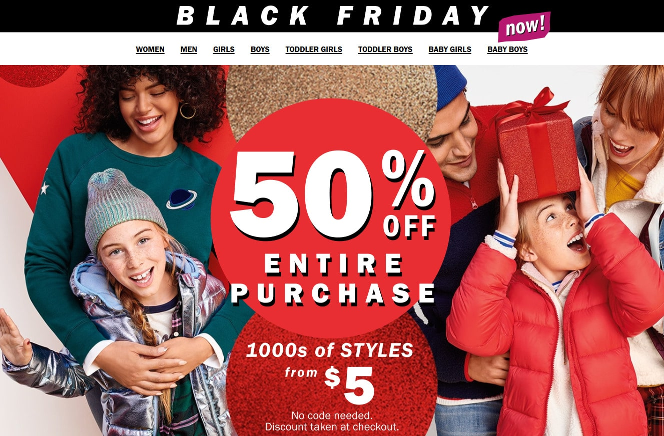 Old Navy Black Friday Deals Canada 2019 - 50% OFF Sale