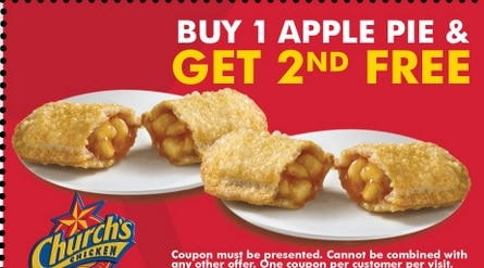 picture about Church's Chicken Printable Coupons called Churchs Fowl Coupon codes, Menu Deals - BOGO Totally free or BOGO