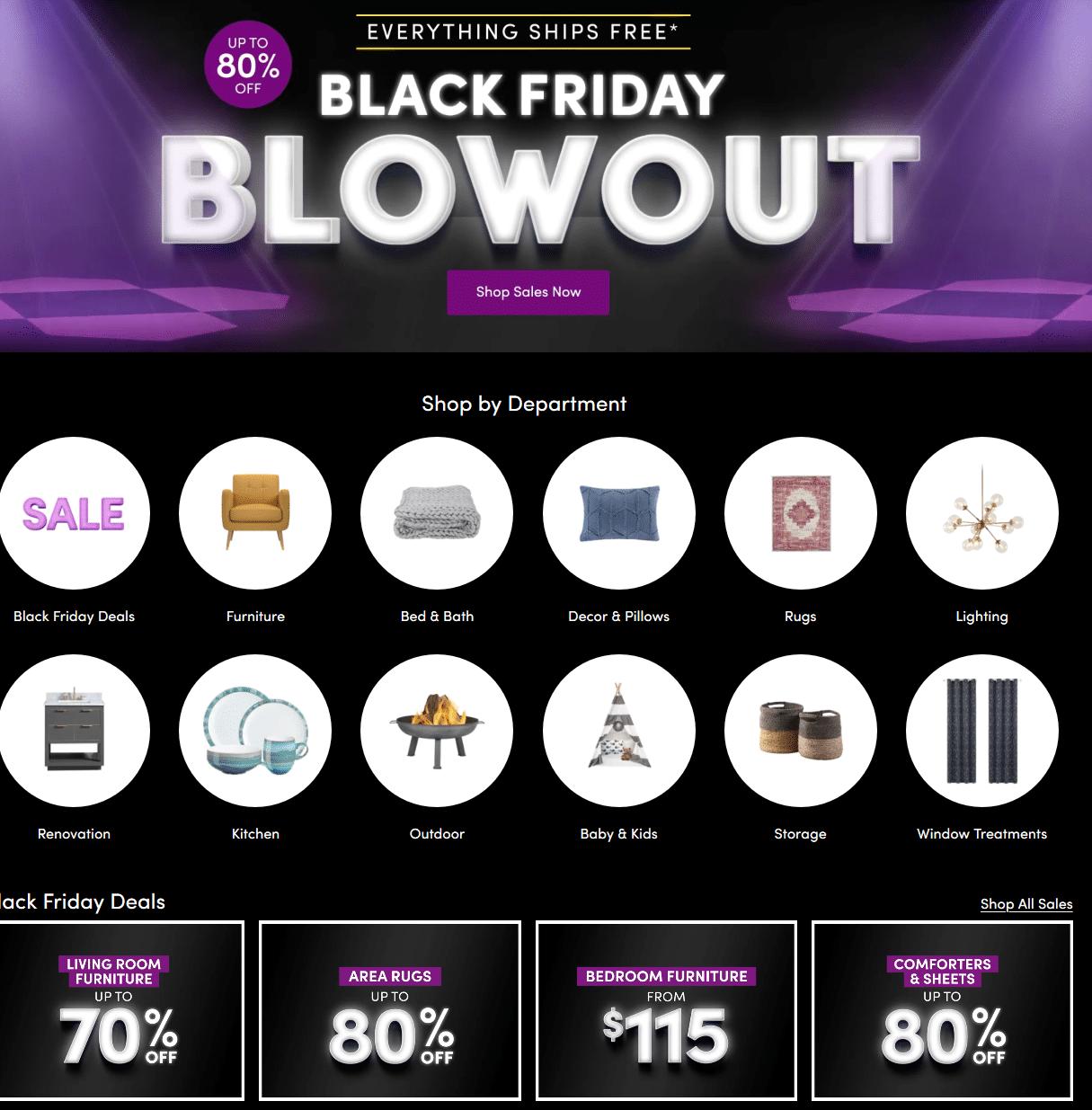Wayfair Black Friday 2020 Sale Canada