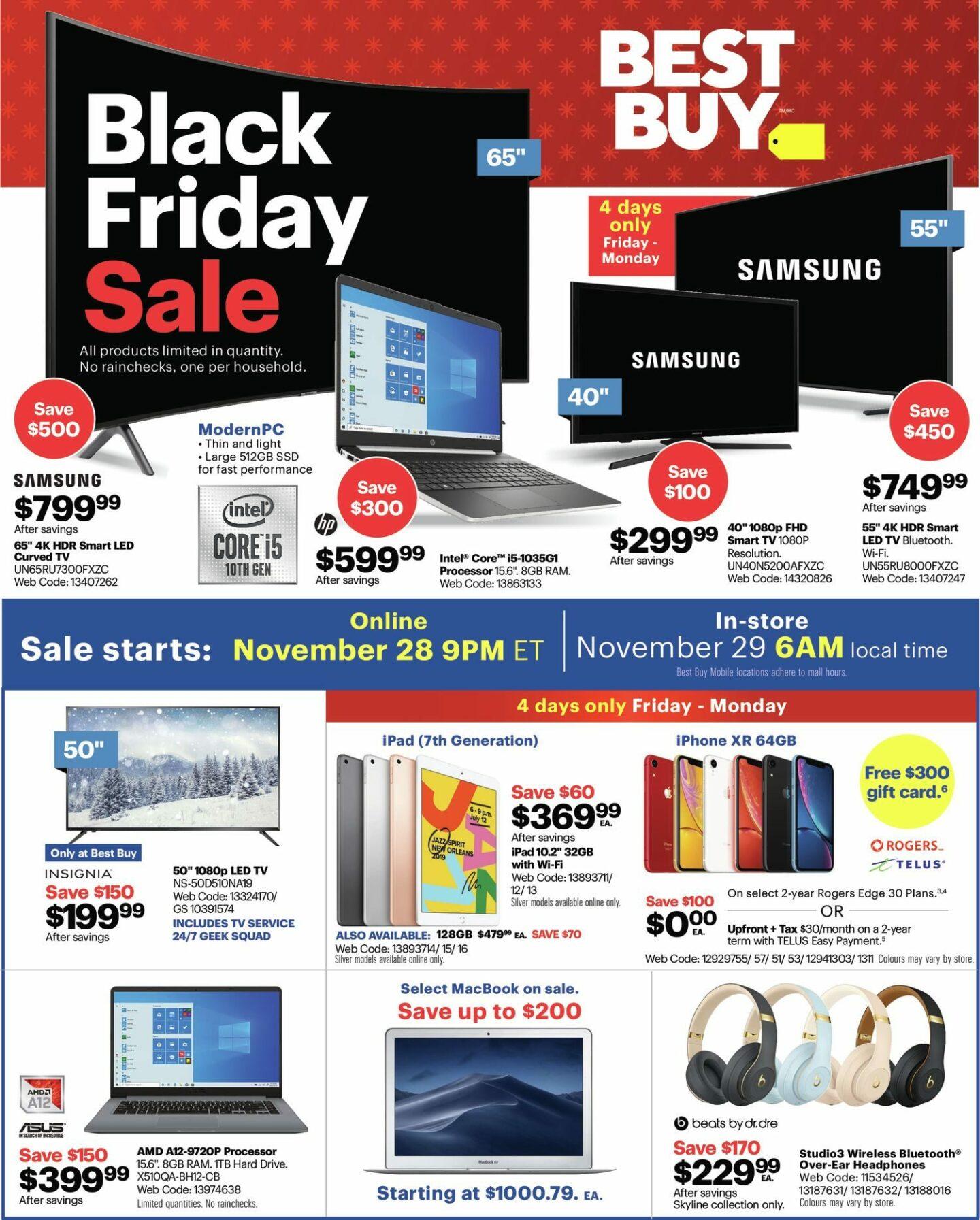 Best Buy Black Friday Flyer Deals 2019 Canada