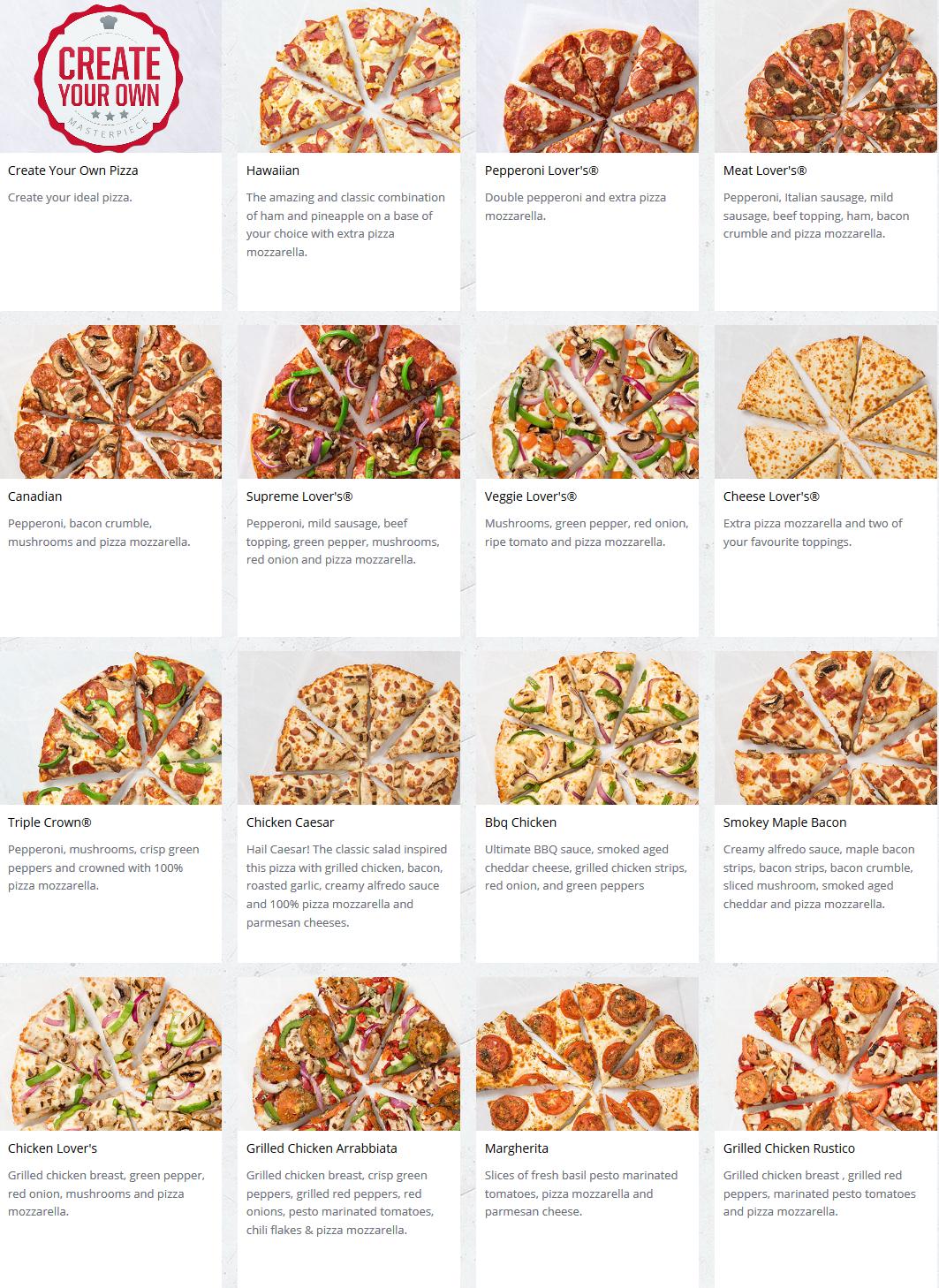 Pizza Hut Menu Pizza Deals 5 Medium Pizza Or 10 Pizza Deal