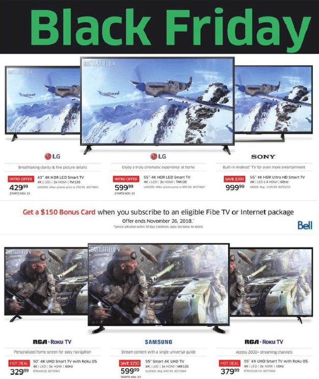 Black Friday TV Deals 2019 Canada