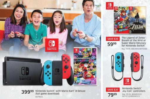 Nintendo Switch Black Friday Canada Sale 2020