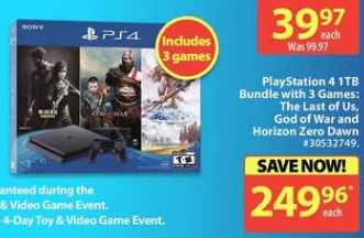 Playstation Ps4 Ps5 Black Friday 2020 Deals Canada