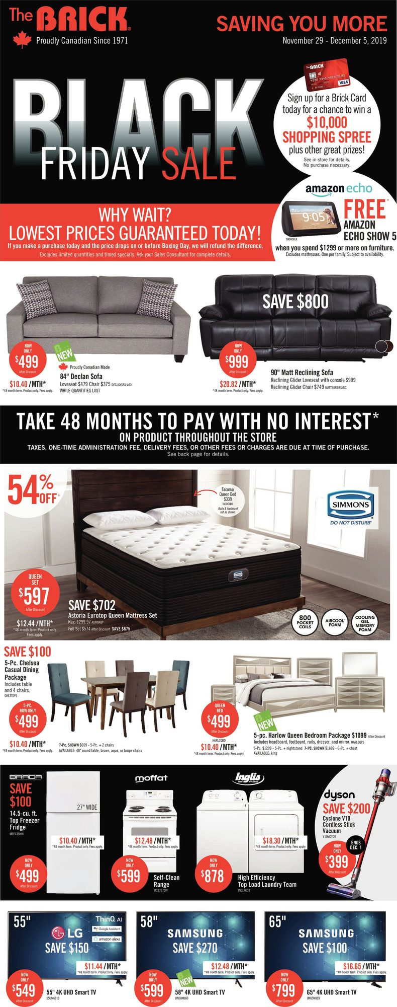 black friday bedroom furniture deals canada