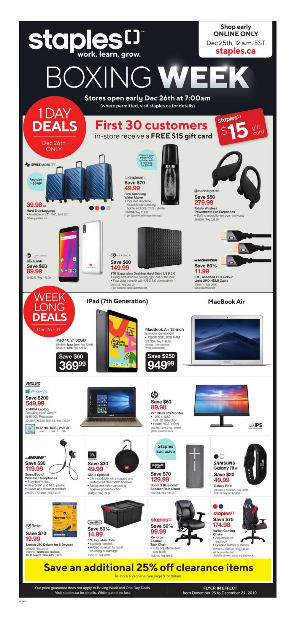 Staples Boxing Day 2020 Sale Flyer Canada