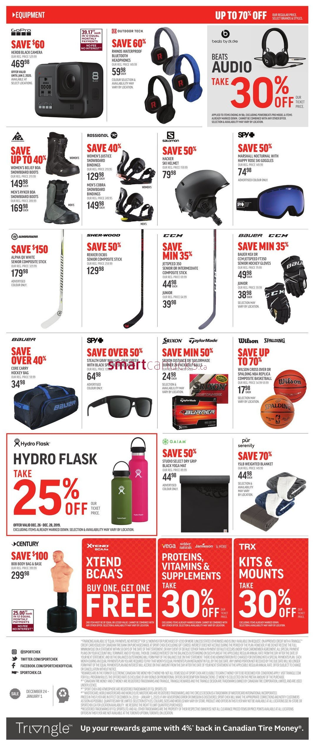 Sport Chek Boxing Day Sale Flyer 2020